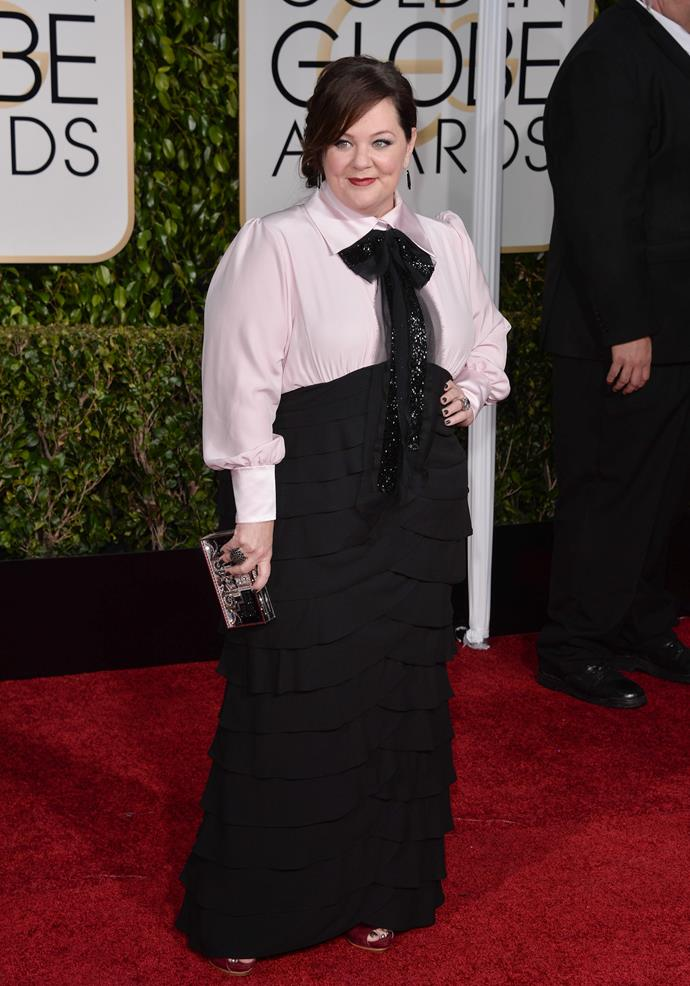 Monochrome was all the rage in 2015 and Melissa McCarthy had no trouble pulling it off!