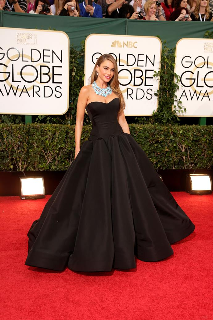 Everyone knows you can't go wrong in a black gown, just like Sofia Vergara à la 2014.