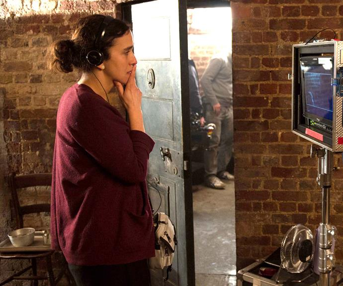 Sarah Gavron behind the scenes.