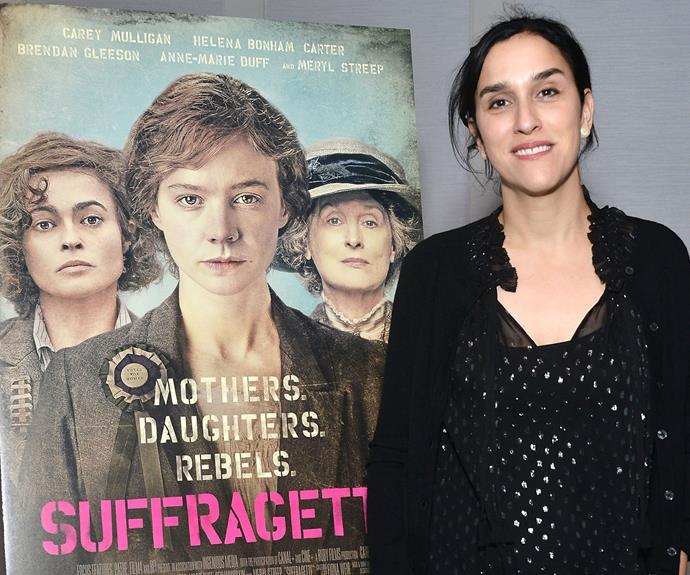 At a Suffragette publicity event.