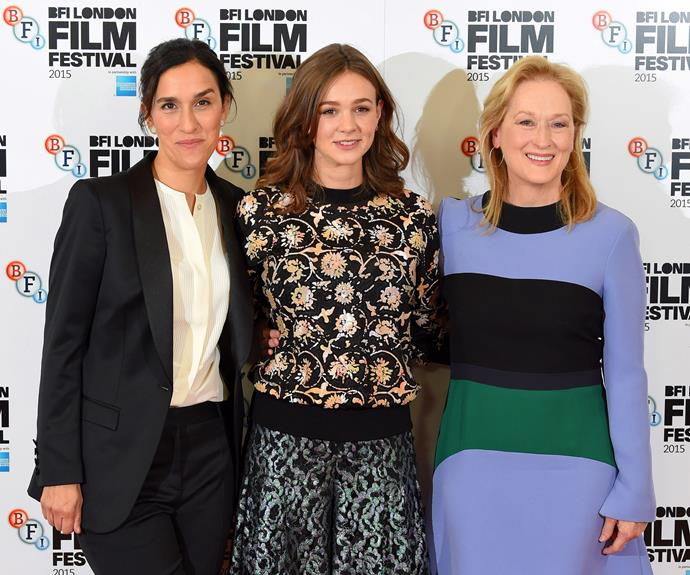 With Carey Mulligan and Meryl Streep.