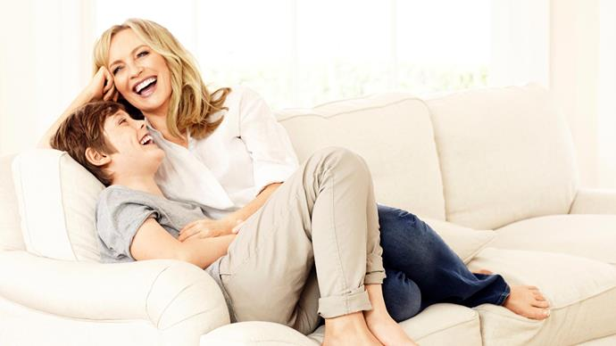 Rebecca Gibney and son Zac