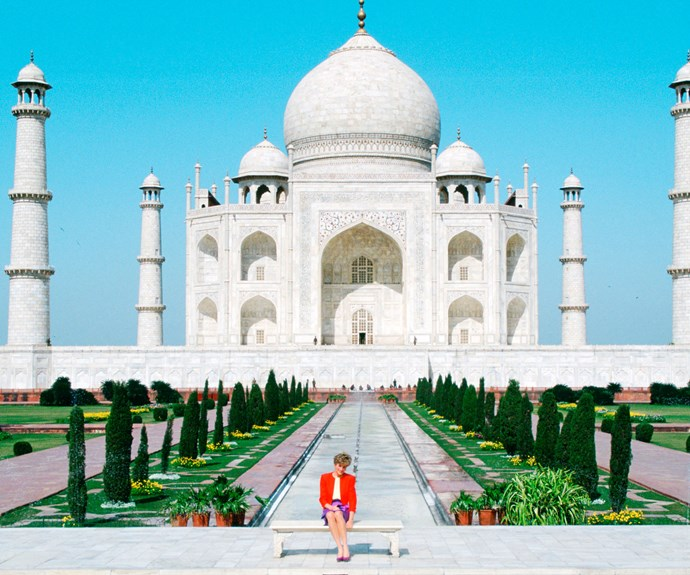 When William and Kate visit India they are expected to recreate the iconic shot of Princess Diana in front of the Taj Mahal, a famous symbol of love.
