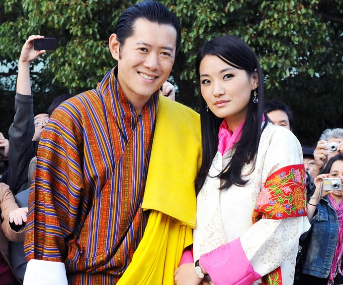 They'll also talk babies with Bhutan's King Jigme Khesar Namgyel Wangchuck and Queen Jetsun Pema (pictured).