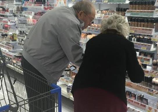Old couple shopping together will renew your faith in love