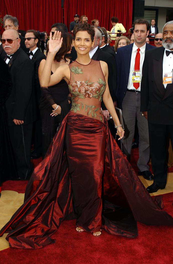 "**Halle Berry, Best Actress, Monster's Ball (2002)** Halle Berry could barely contain herself when she became the first black female to win a best actress award in 2002, crying before she had even made it onto the stage. But she managed to hold it together to deliver this important message, telling the crowd: ""This moment is so much bigger than me. It's for every nameless, faceless woman of colour that now has a chance because this door tonight has been opened."""