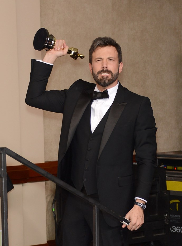 "**Ben Affleck, Best Picture, Argo (2013)** Not many actors successfully make it when they turn to directing, but Ben Affleck's attempt with Argo – which he also starred in – proved a resounding success. Overcome with his win, Ben paid a touching tribute to his wife, Jennifer Garner, saying: ""I want to thank you for working on our marriage for ten Christmasses. It is work but it's the best kind of work and there's no one I'd rather work with."" Garner, who was in the audience, looked to well up as her husband paid tribute to her. The couple announced their separation in 2015."
