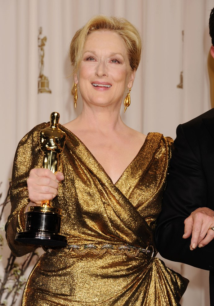 "**Meryl Streep, Best Actress, The Iron Lady (2012)** As she accepted her second best actress Oscar, Meryl Streep joked: ""When they called my name, I had this feeling I could hear half of America going, 'Oh no. Come on... Her, again?' You know. But, whatever.'"""