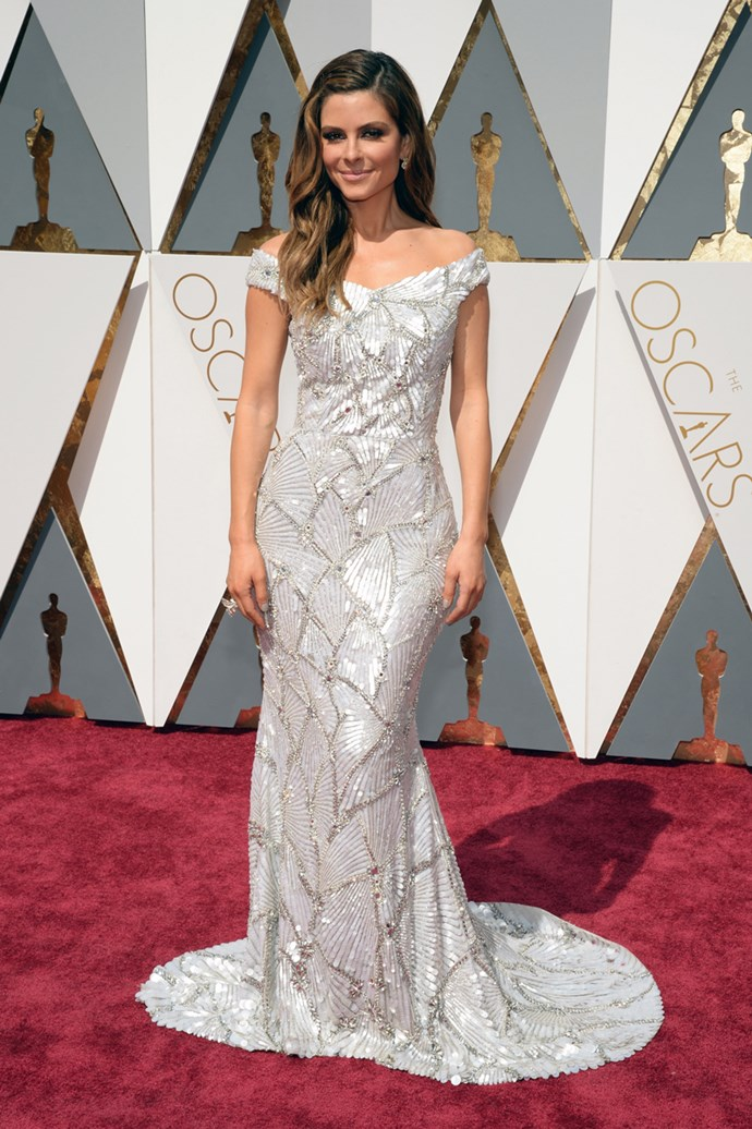 Maria Menounos arrives at the 88th annual Academy Awards.