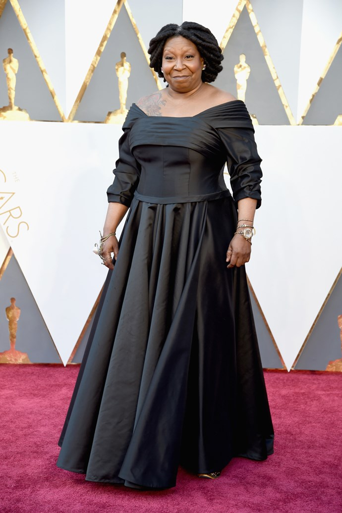 Whoopi Goldberg arrives at the 88th annual Academy Awards.
