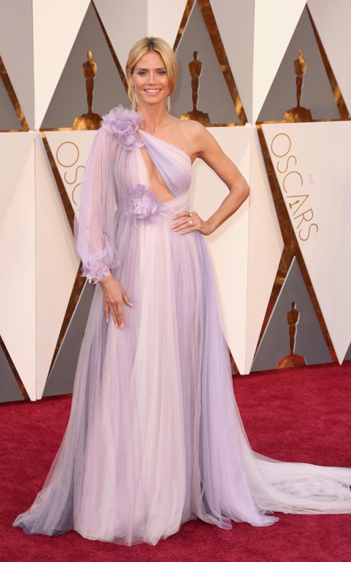 Heidi Klum arrives at the 88th annual Academy Awards.