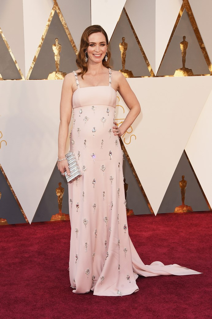Emily Blunt arrives at the 88th annual Academy Awards.