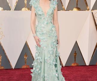 Stars shine on Oscars red carpet