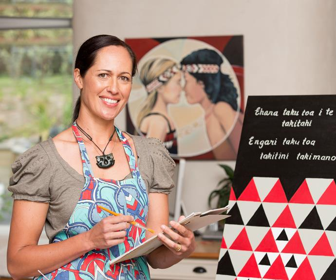 Art and soul: The multi-skilled mum is also a talented painter – a passion that keeps her up at night.