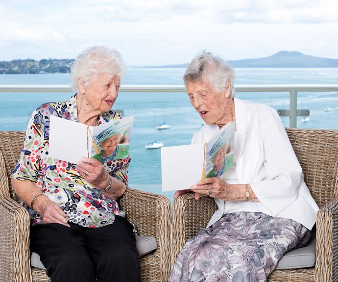"Jean (left) and Edna celebrated their 100th birthdays this year and were both delighted to receive their cards from the Queen to mark the occasion. Jean thinks they've always appreciated each other and they ""clicked at the beginning"", while Edna says, ""A friend is a part of yourself. But, really, I think we're more like family than friends."""