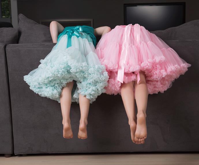 children in tutus