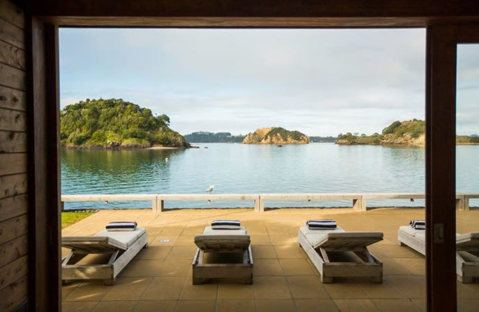 "**The Boathouse, Bay of Islands**	 ""Treat yourself to the innovative and functional Boathouse right on the water's edge. The Boathouse is part of The Landing Residences, Bay of Islands which offer stunningly appointed, luxurious private housing set amid a thousand acres of beaches, farmland, native bush and wildlife sanctuaries."" [See the full ad here](https://www.airbnb.co.nz/rooms/10731929?s=DAhwbt9h)"