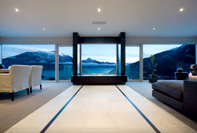 "**Ekara House, Queenstown**	 ""One of Queenstown's prime luxury residences, Ekara House, sits high on Queenstown Hill and is positioned perfectly to take in the breath taking views of Lake Wakatipu, the surrounding mountainous landscape and the lights of central Queenstown below."" [See the full ad here]( https://www.airbnb.co.nz/rooms/9411827?guests=5&s=qE3ESzqn)"