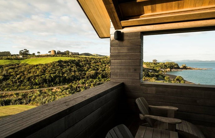 "**Gabriel's Residence, Northland** ""The magnificent Gabriel Residence takes its high and handsome style from the traditional farm building with its unfinished hardwood and concrete construction. Overlooking Wairoa Bay there are views to the sea and islands or to rugged bush or rolling farm land."" [See the full ad here](https://www.airbnb.co.nz/rooms/11571835?s=DAhwbt9h)"