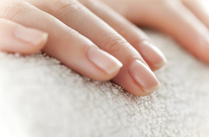 Get squeaky clean nails with a polish of toothpaste