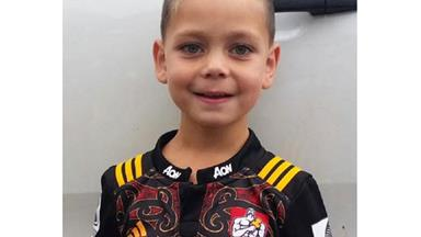 Little rugby fan reunited with favourite jersey after internet appeal