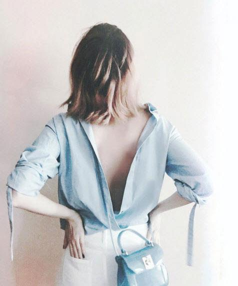 Backwards shirt trend