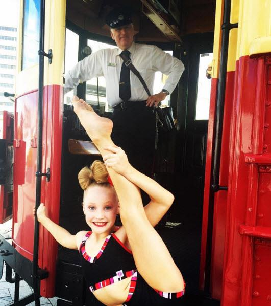 Molly poses around Christchurch (Photo: Instagram: MollyBrown_dancer)