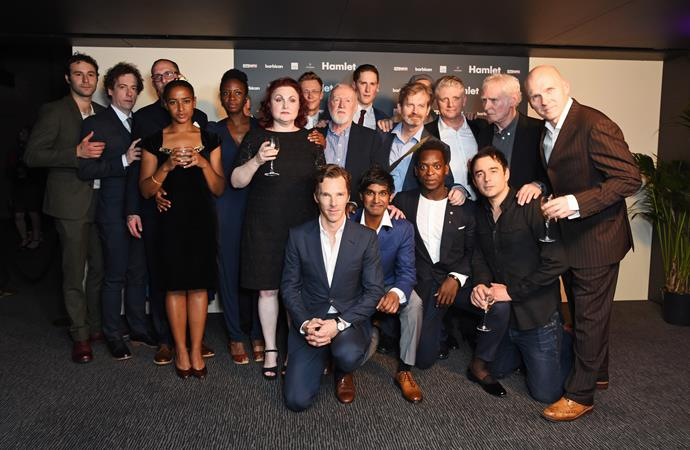 Morag pictured with Benedict Cumberbatch and fellow Hamlet stars