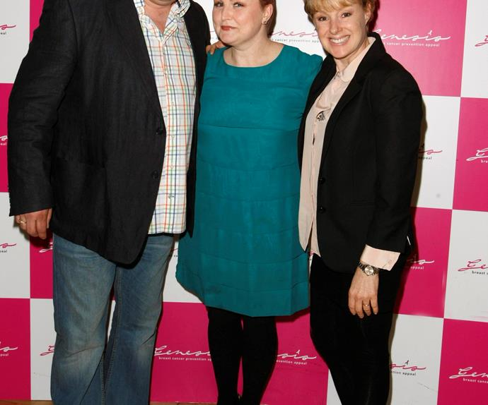 Morag with co-star and friend Sally Dynevor