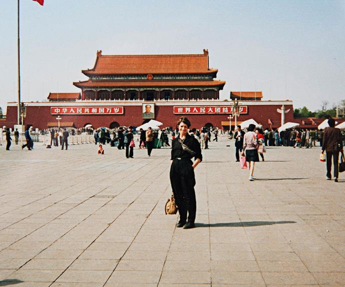 Ann standing outside the Summer Palace in Beijing, China, back in 1988.