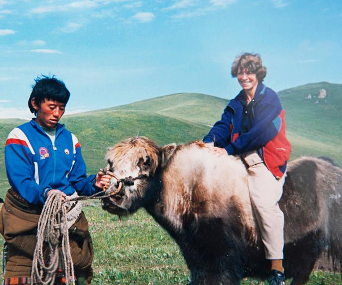 Never one to shy away from a new experience, Ann hopped on the back of a yak during a trip to Tibet in 1992.