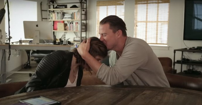 Channing Tatum couldn't hide his affection for his interviewer