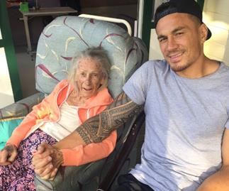 Sonny Bill Williams and nana