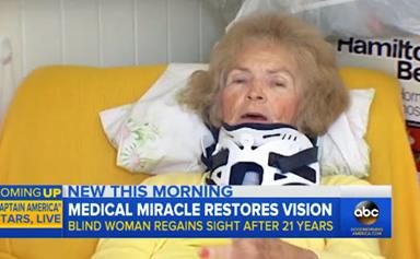 Woman who was blind for 20 years regains sight after falling over