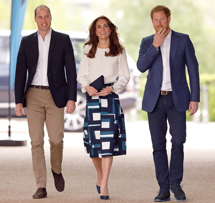 The royal trio attended the event on the 16th May