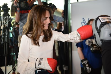 Kate Middleton, Harry and William throw a punch at mental health event