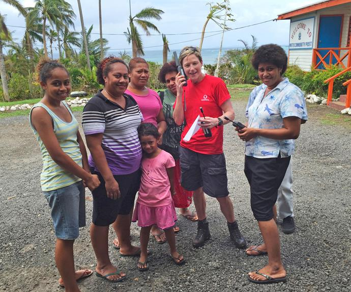 Lise and her fellow Vodafone volunteers were sent to Fiji shortly after Cyclone Winston hit earlier this year.