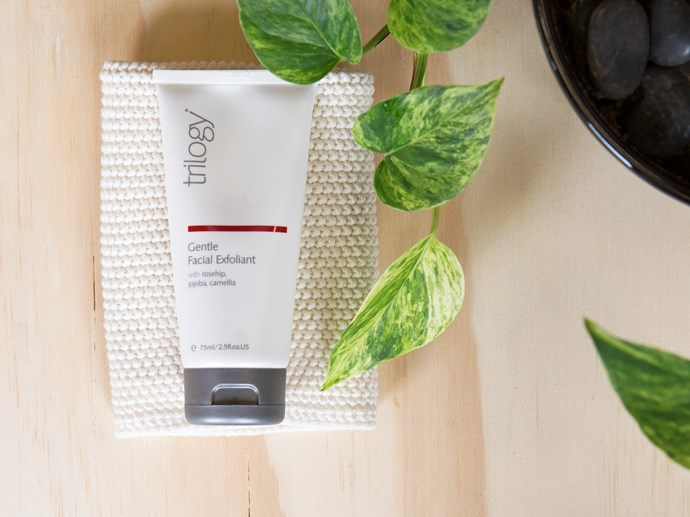 Trilogy's Gentle Facial Exfoliant is microbead free
