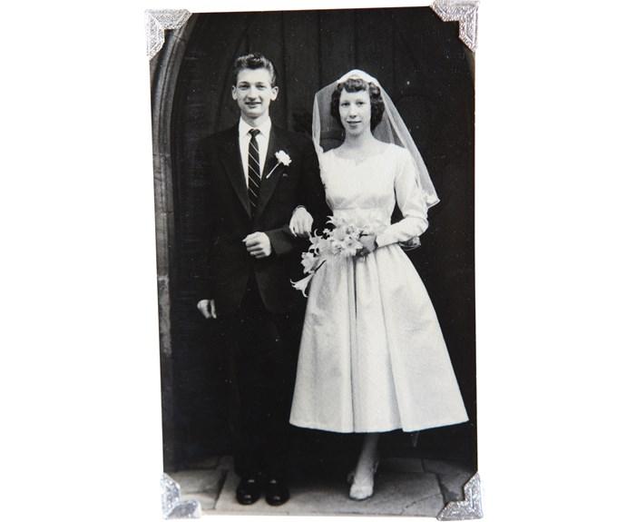 On their wedding day