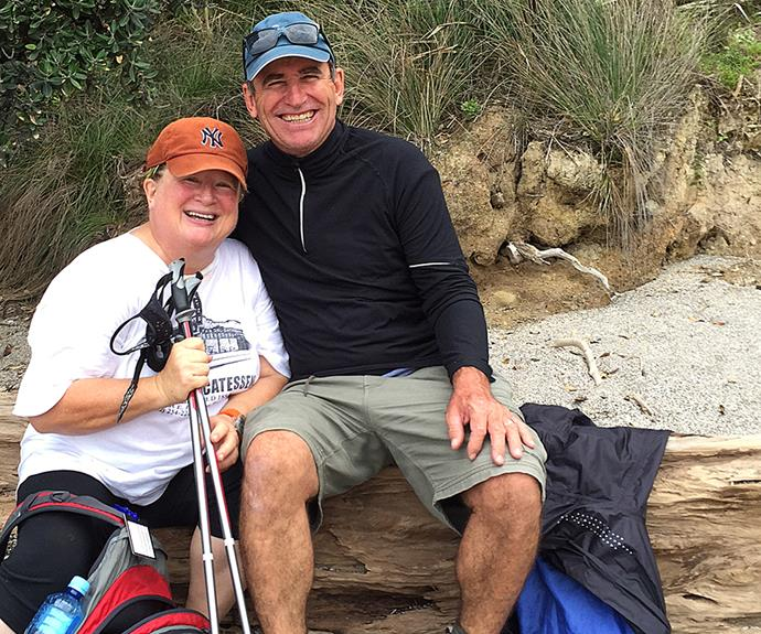 Nordic walking fan Annabelle put her best foot forward with her cousin Owen Cranswick.
