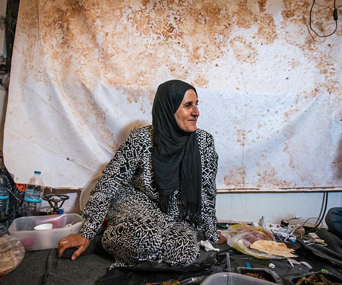 Zahara, who fled Syria with her children and lived in tent number 118 with them.