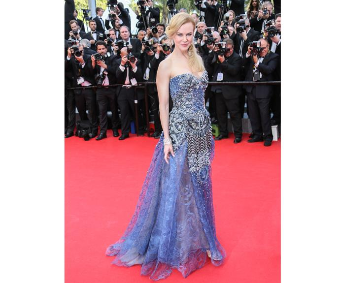 When Nicole wore this Armani Privé dress to the Cannes the opening ceremony and *Grace of Monaco* premiere on May 14, 2014, we wondered if embellished dresses had been invented just for her.