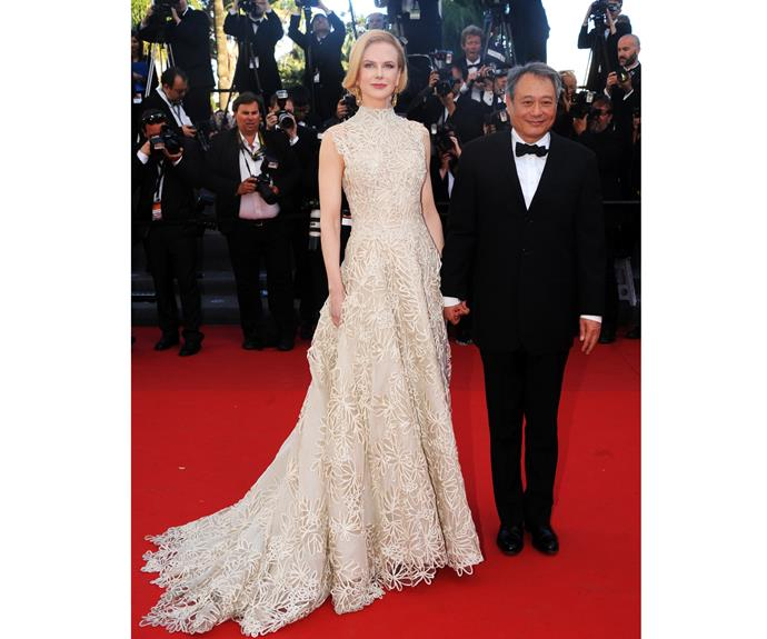 When Kidman and Ang Lee attended the *Nebraska* premiere during Cannes in 2013, her regal dress and ice cold smile reminded us why she is an icon.   The Valentino dress was rumored to be an homage to Grace Kelly.