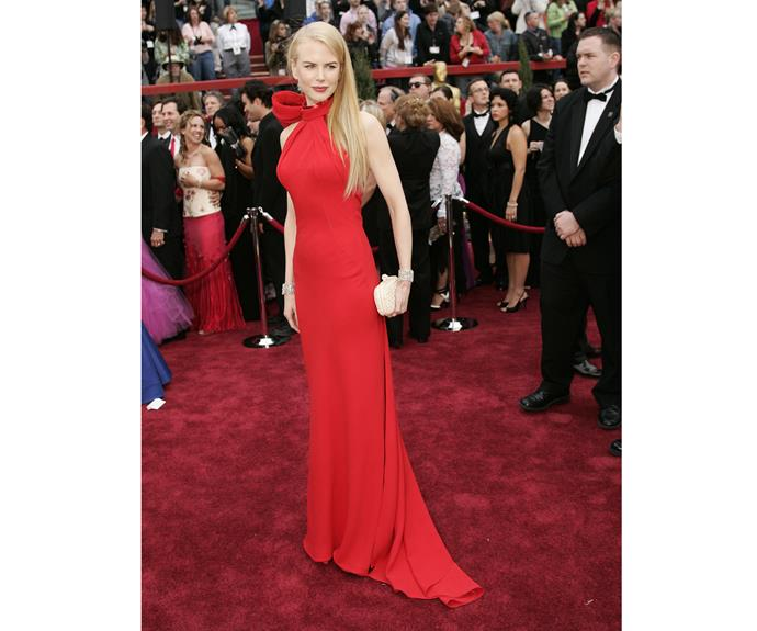 The red Balenciaga dress Nicole wore to the the 79th Academy Awards in 2007 will grace the top of best dressed lists forever.