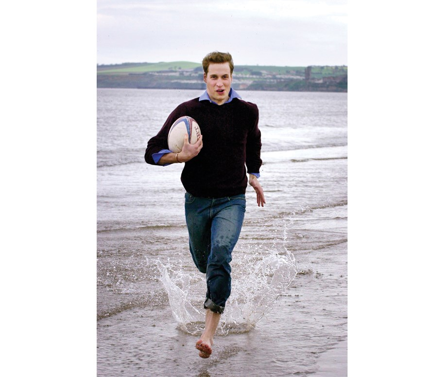 "*Prince William in 2003 during his days at the University of St Andrews in Fife, Scotland.* <br><br> **The time Prince William revealed it's easy to know when the Queen is displeased:** <br><br> ""You know when you're in her bad books,"" he once said. <br><br> ""I've seen the way the corgis get told off when they're in trouble."" <br><br> *(Image: Getty)*"