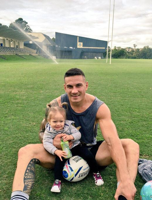 Sonny Bill and his 18-month-old daughter Imaan