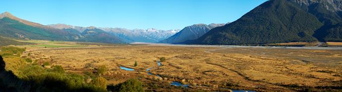 Arthur's Pass panoramic