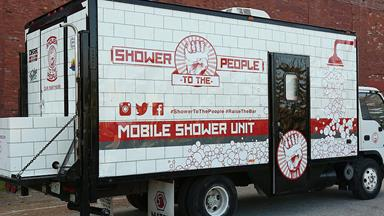 Man converts truck into mobile shower unit for homeless