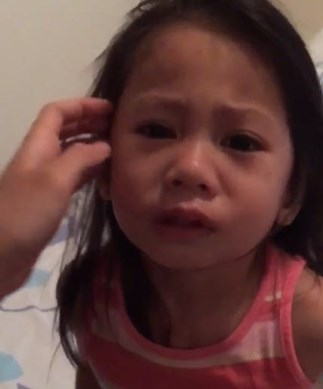 Little girl doesn't understand periods
