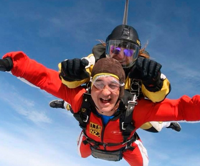 Mike pushed his body to the limit for his landmark birthday with a tandem skydive.